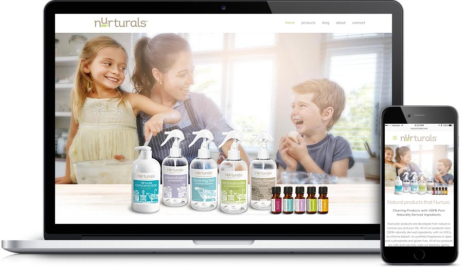 Photo of Nurturals website design