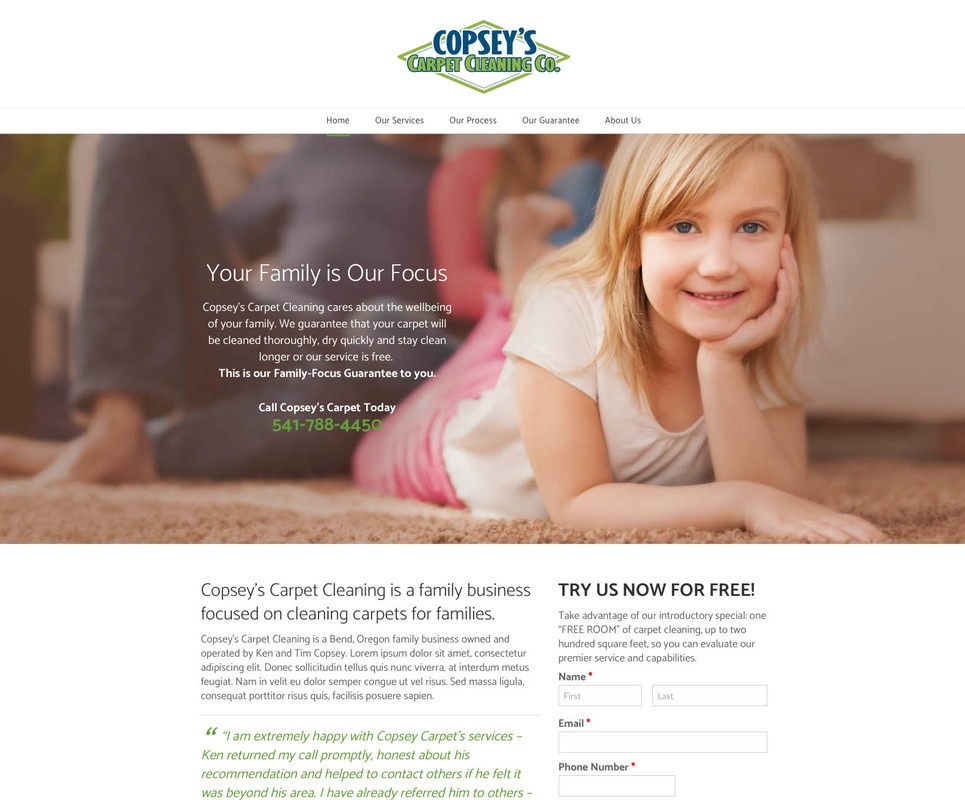 Picture of Copsey's Carpet New Website Design