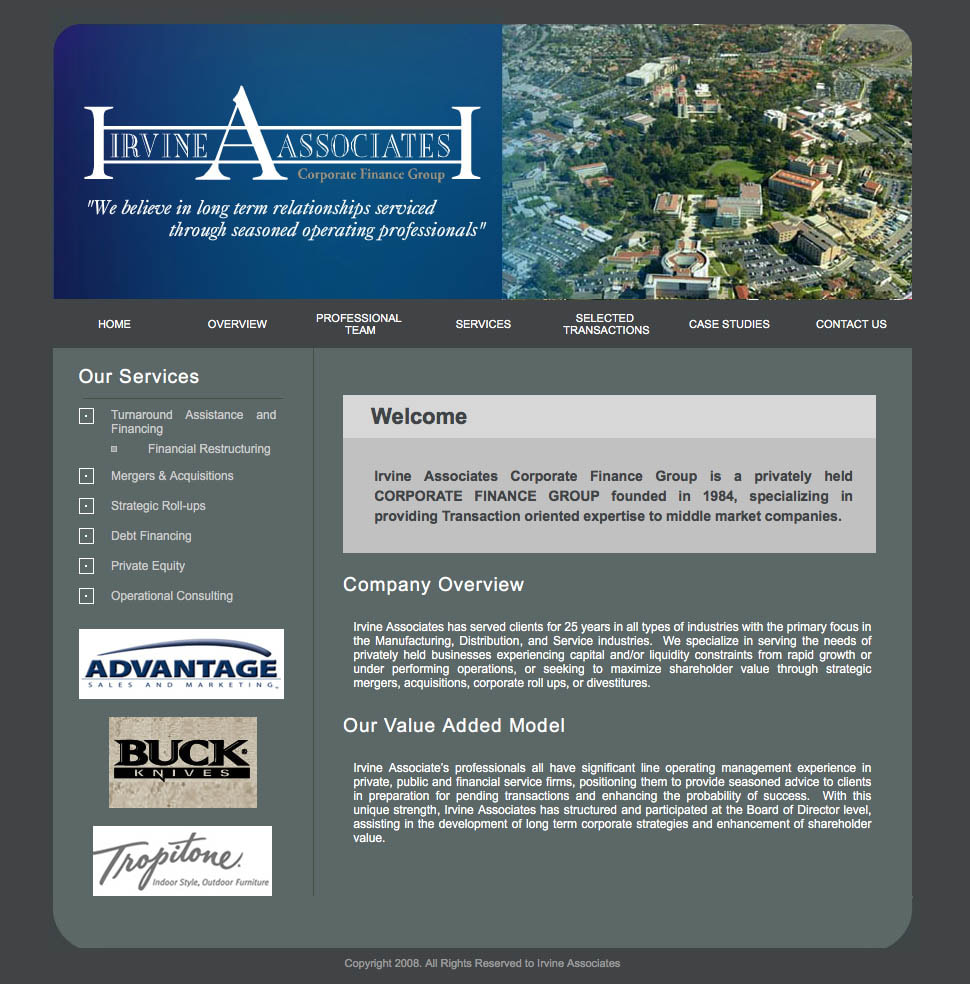 Irvine Associates Old Website