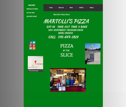 Old Martolli's Website Design