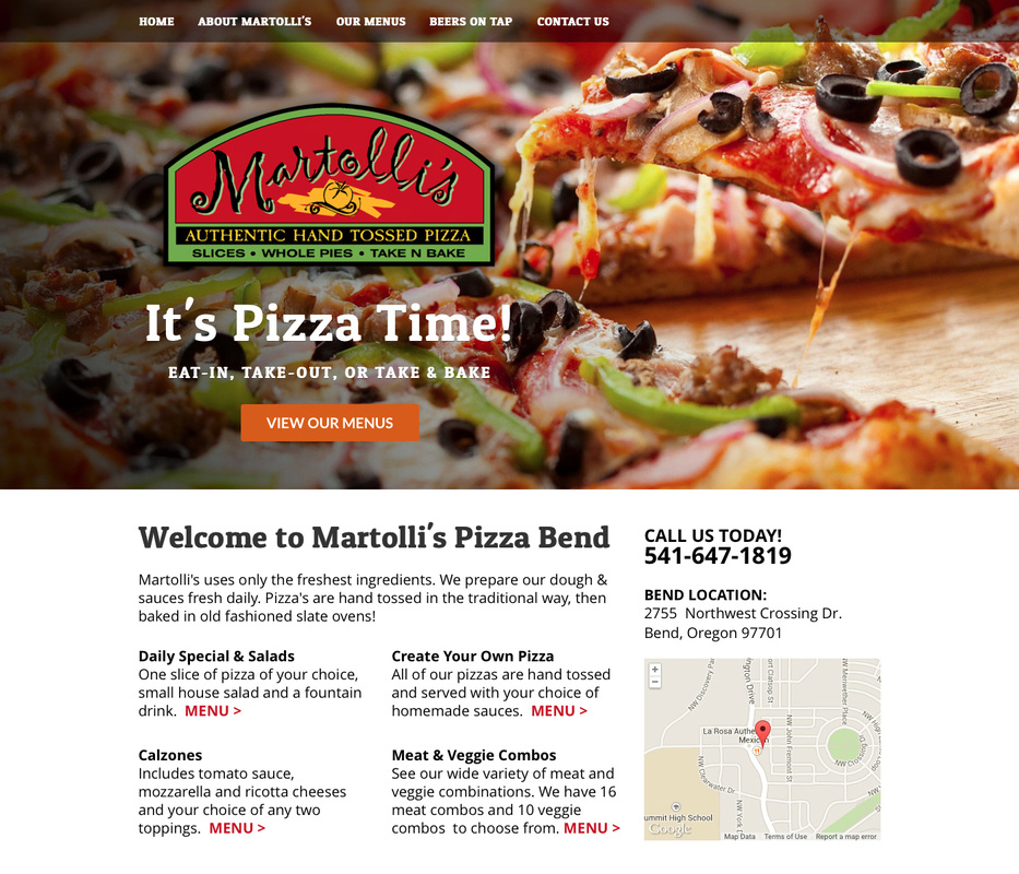 Martelli's Pizza Website Design