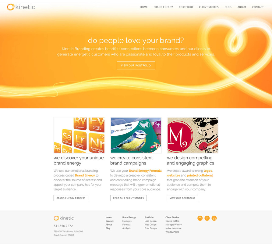 Kinetic Branding Website